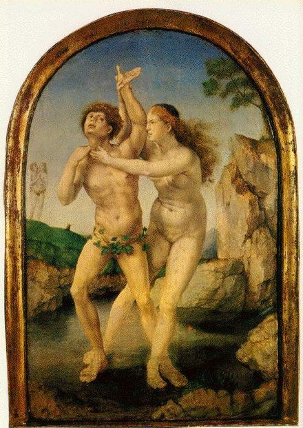Hermaphroditus, een god in de Griekse mythologie, was een zoon van de god Hermes, de bode van de goden, en de godin Aphrodite, de godin van de liefde. Hermaphroditus werd geportretteerd in Grieks-Romeinse kunst als een vrouwelijke figuur met mannelijke geslachtsdelen.