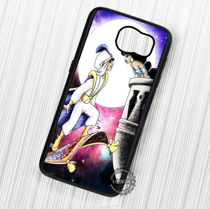 Cartoon Princess Jasmine with Aladdin - Samsung Galaxy S7 S6 S5 Note 7 Cases & Covers