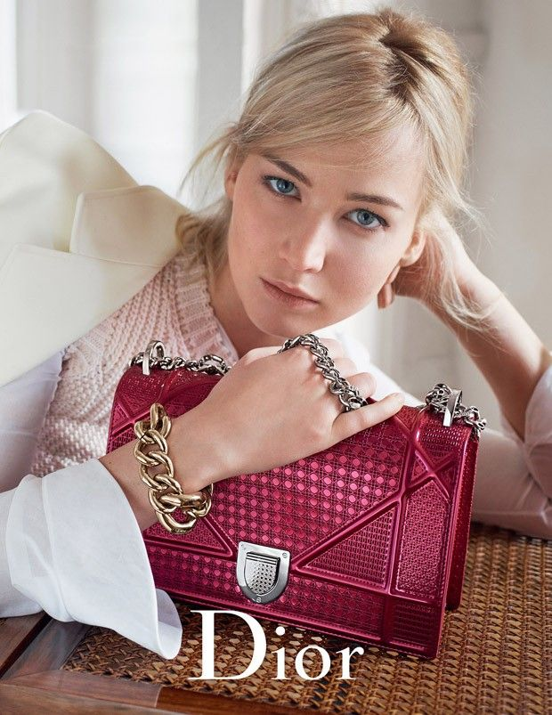 #JenniferLawrence for #Dior Handbags Spring Summer 2016 ad campaign photographed by #MarioSorrenti!