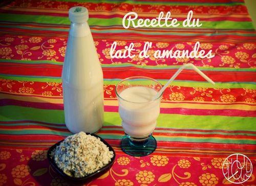 Recette du lait d'amandes et cookies à l'okara