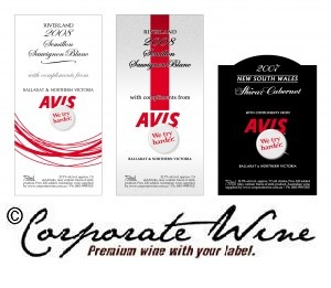 This company decided  on these Custom Designed Labels, created by our experienced designers.