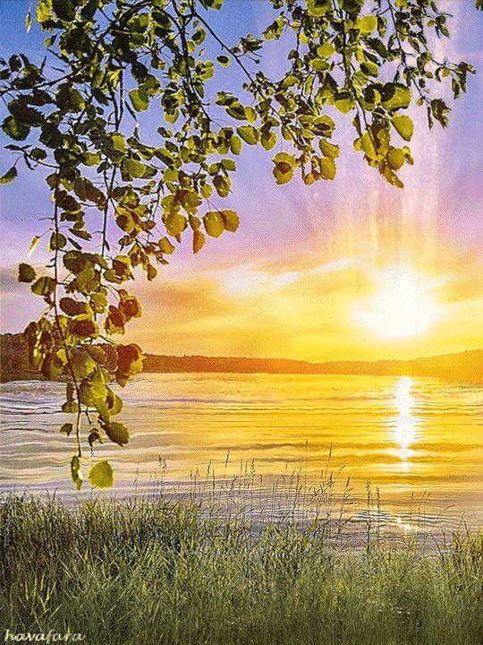Надписей, картинки с природой и стихами доброе утро
