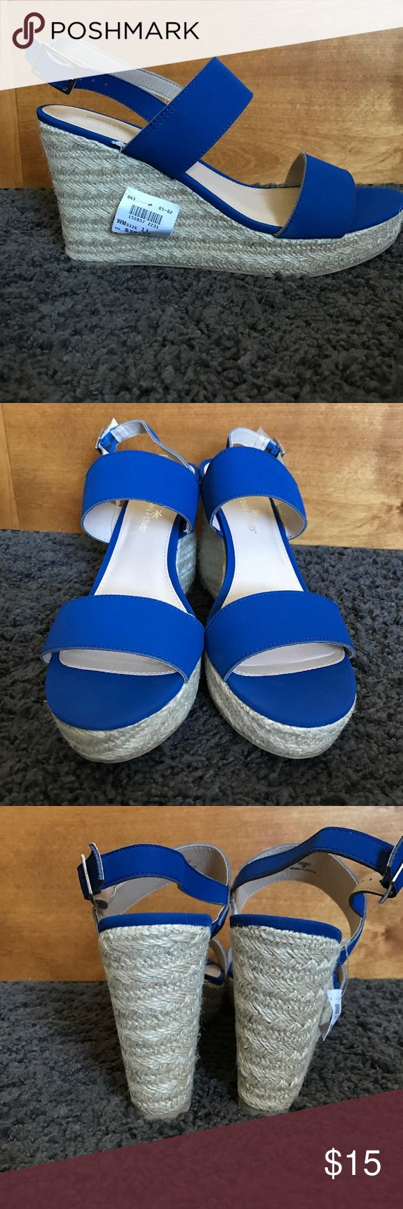 Royal Blue Wedges Never Worn! Blue wedges. Shoes Wedges