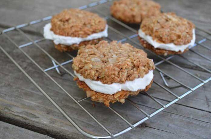 Kokosowe ciasteczka z bitą śmietaną