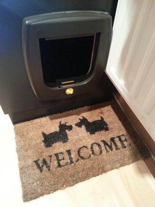 gatificacion:  puerta para mueble con arenero oculto
