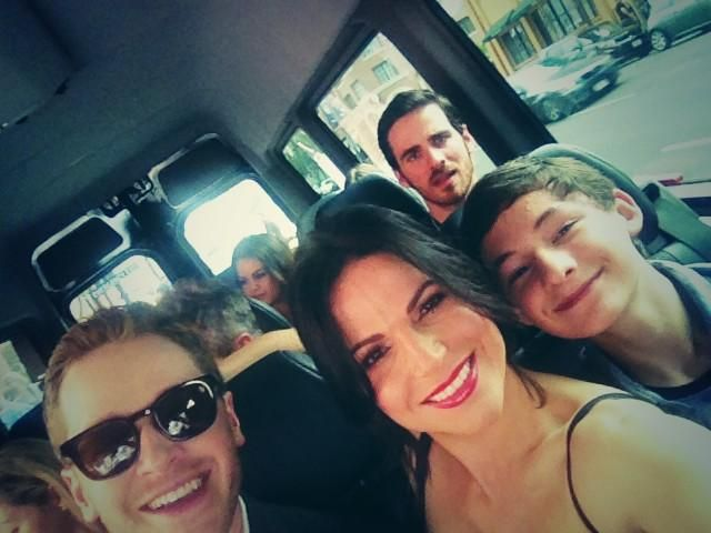 Our day has started! @Comic_Con 2014 here we come! #SDCC @joshdallas @colinodonoghue1 @Jared_Gilmore @ABC_Publicity from Lana Parrila twitter