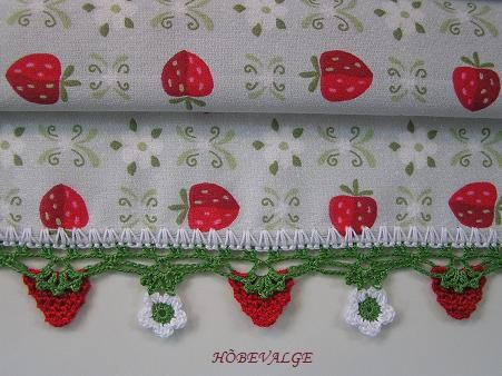 adorable strawberry edging