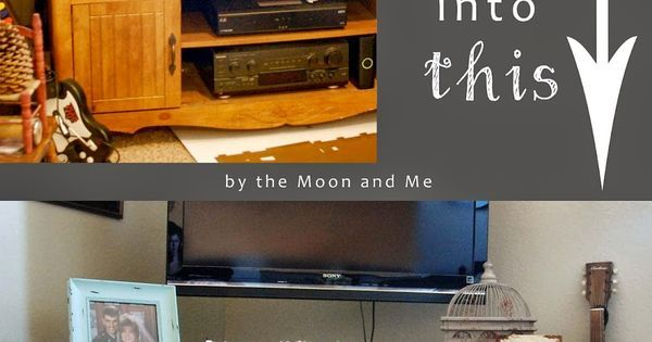Turn an Entertainment Center into a TV Console Table | A tv, Furniture and Tv console tables