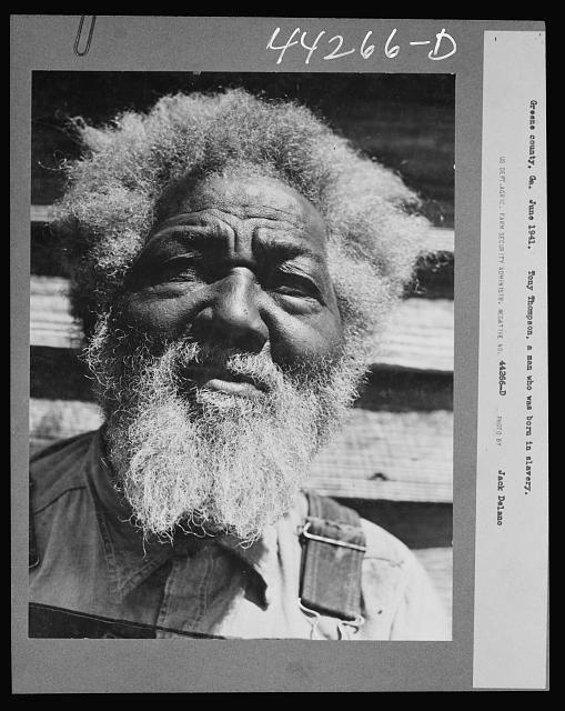Tony Thompson, born in slavery. Greene County, Georgia