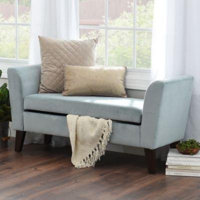 Bella Skylight Upholstered Storage Bench | Kirklands