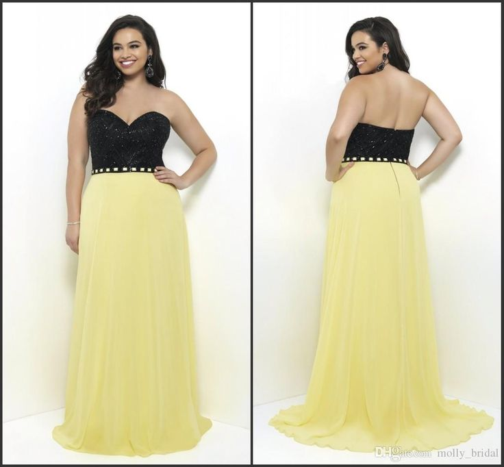 2017 Charming Yellow Plus Size Special Occasions Dresses Rhinestone Major Beaded Sweetheart Backless Dresses Evening Wear Prom Gowns New Prom Dresses Stores Strapless Prom Dresses From Molly_bridal, $104.53| Dhgate.Com