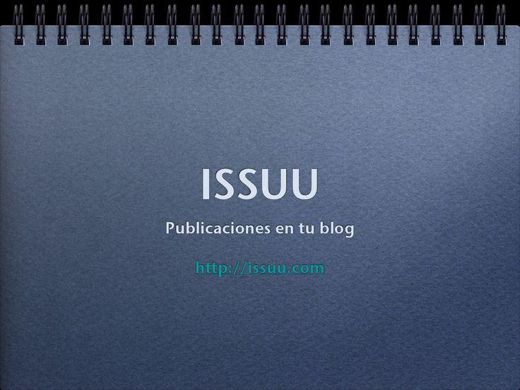 Manual para empezar a subir trabajos en ISSUU
