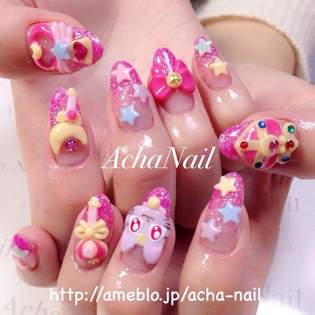 157 best kawaii nails images on Pinterest | Acrylics, Art and Belle ...