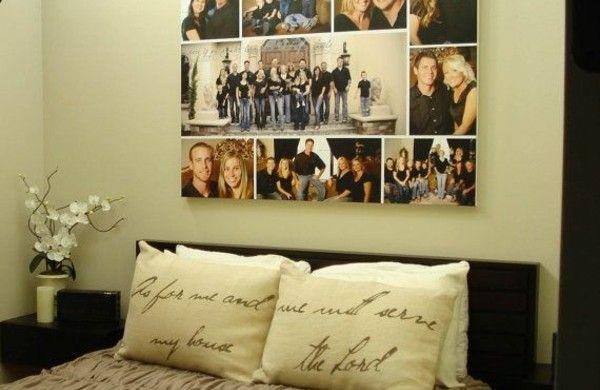 Fotos Leinwand selber machen fotocollage schlafzimmerwand