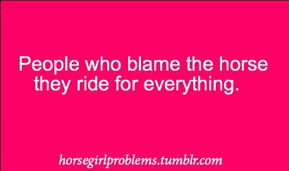 Horse girl problems....hate it when this happens