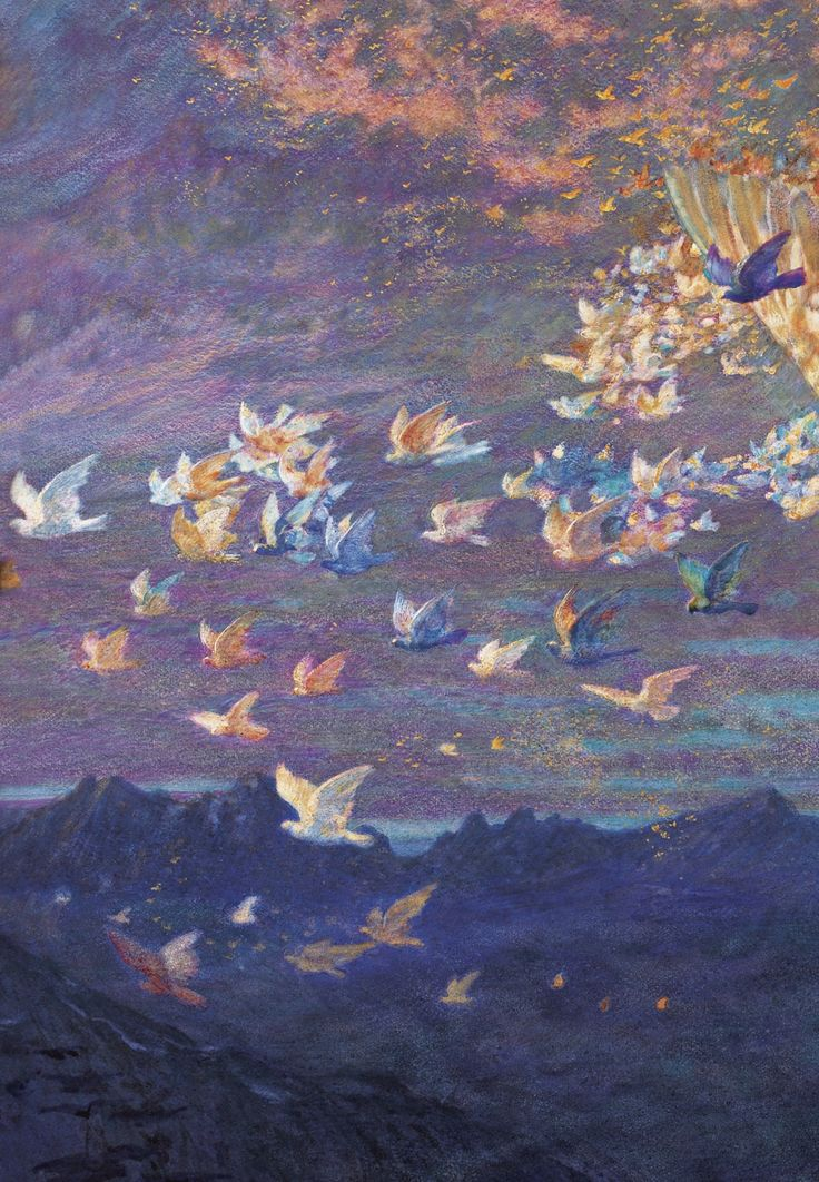 Edward Robert Hughes - PreRaphaelism - Wings of the Morning (detail),