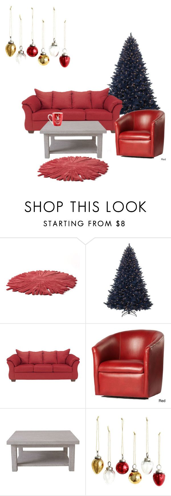"""""""Christmas Decorations"""" by tayturkey ❤ liked on Polyvore featuring interior, interiors, interior design, home, home decor, interior decorating, Nodus, Greyson Living, Rachel Ashwell and H&M"""