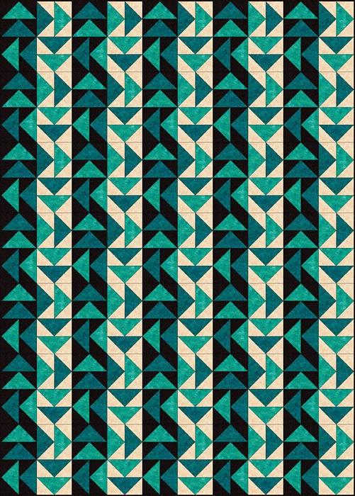 Strippy Set Dutchman's Puzzle Quilt Pattern