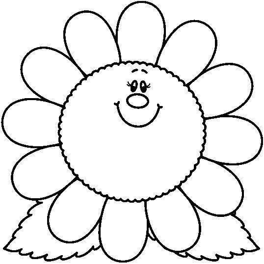 dibujos para colorear: Las flores