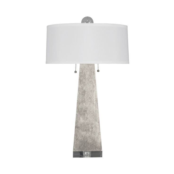 Interior HomeScapes Offers The Jill Silver Leaf Table Lamp With White Silk  Shade U0026 Large Acrylic Ball Finial By Worlds Away. Visit Our Online Store To  Order ...