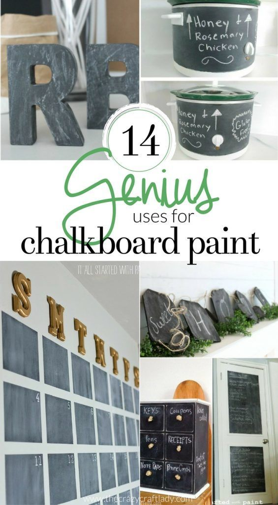 14 Genius Uses for Chalkboard Paint