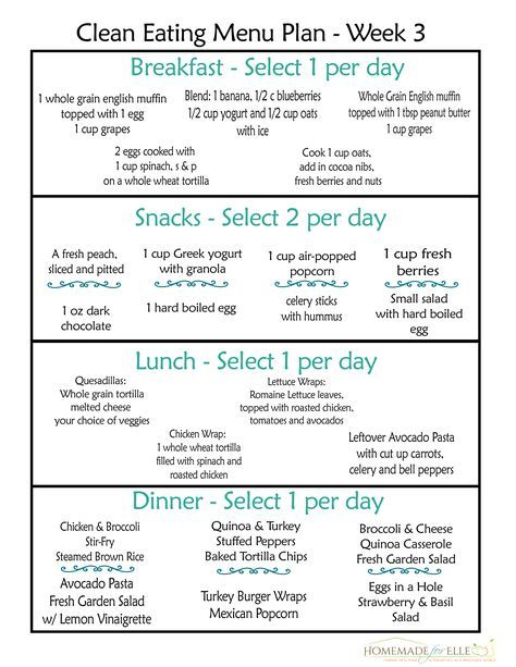 Clean Eating Meal Plan {100% Free – Includes Breakfast, Lunch, Dinner & Snacks