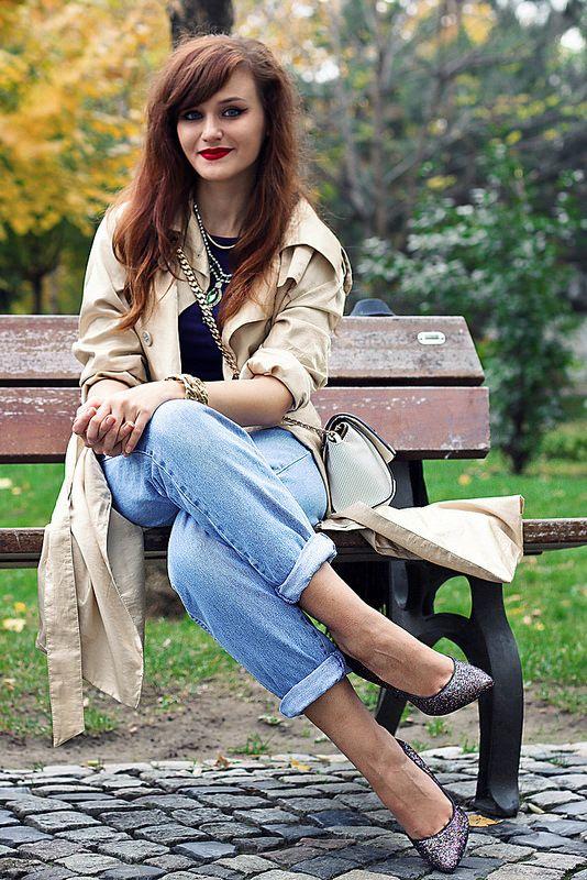 Vintage cuffed jeans