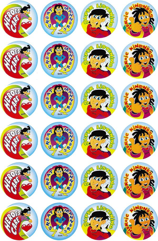 Super Manners Merit Stickers