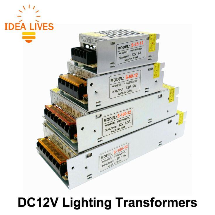 Pencahayaan Transformers DC12V Kualitas Tinggi Lampu LED Driver untuk LED Strip Power Supply 60 W 100 W 200 W 300 W.