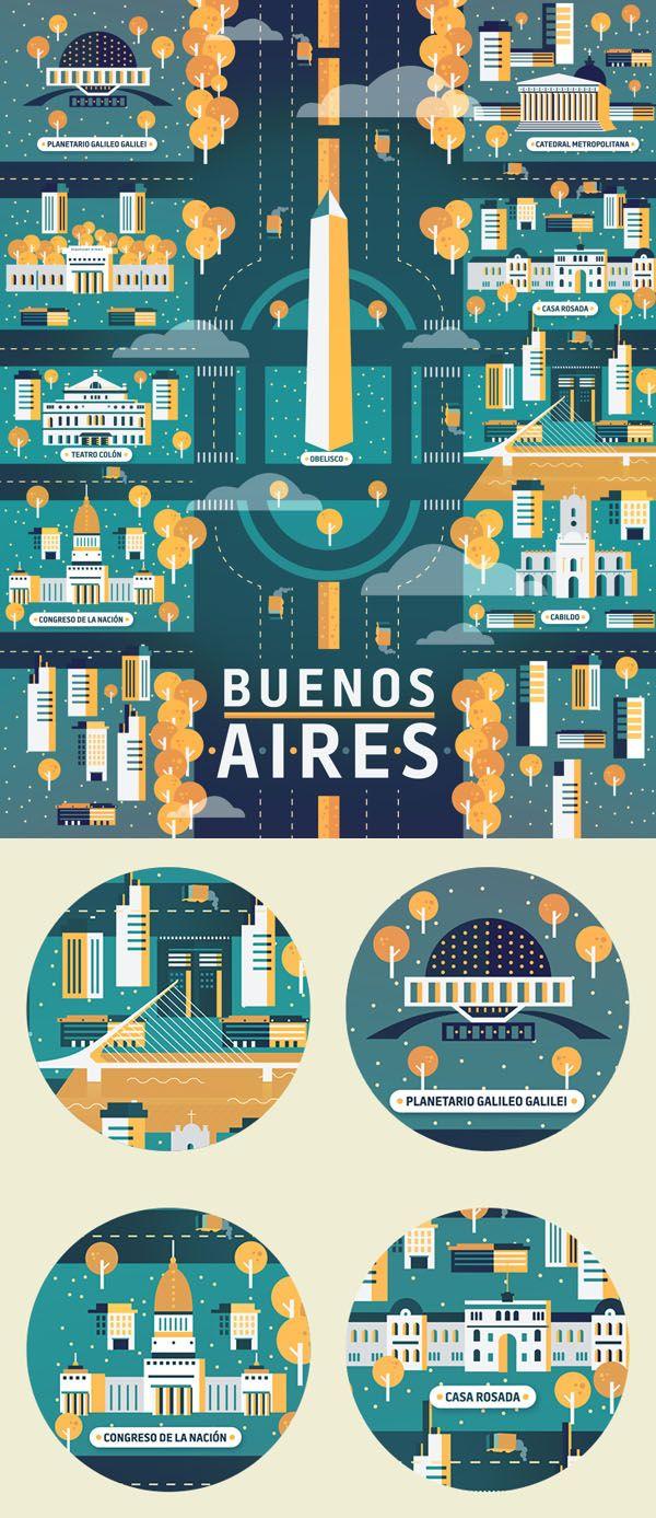 Ilustraciones Cosmópolis - Buenos Aires