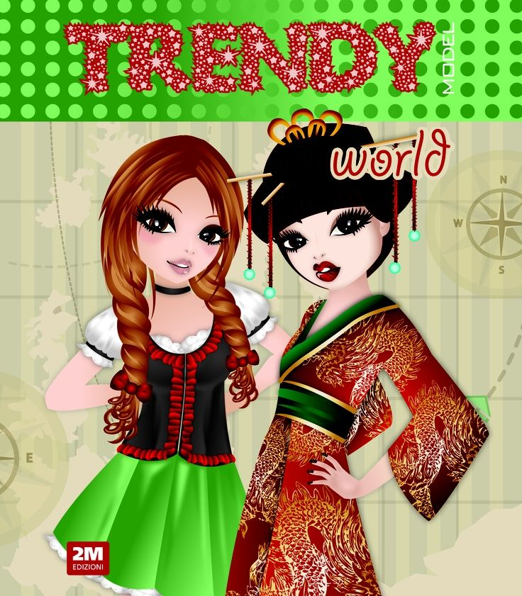 trendy world paper dolls from Italian paper doll site
