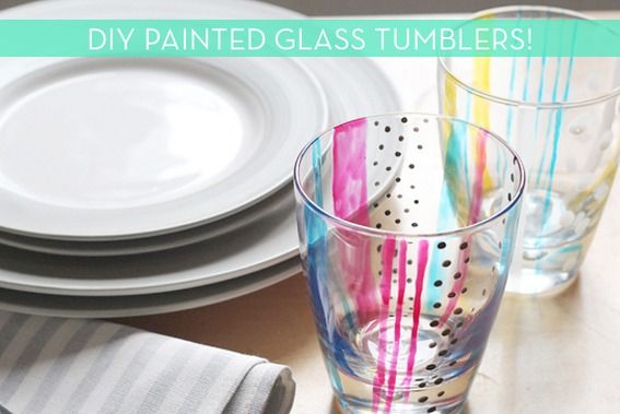 Make It: DIY Painted Glass Tumblers!