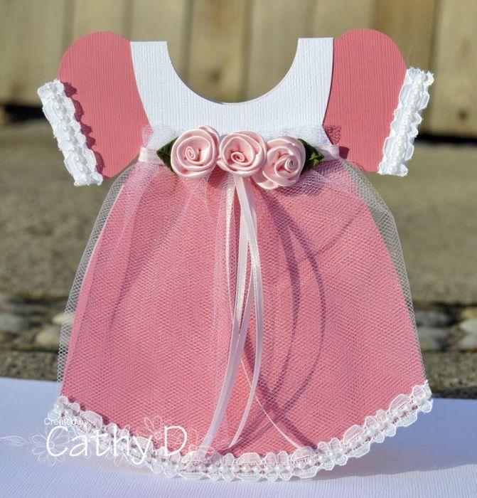 Открытка для девочки платье, анимация