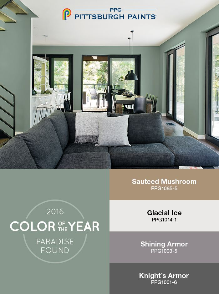 13 best 2016 paint color of the year paradise found images on pinterest. Black Bedroom Furniture Sets. Home Design Ideas