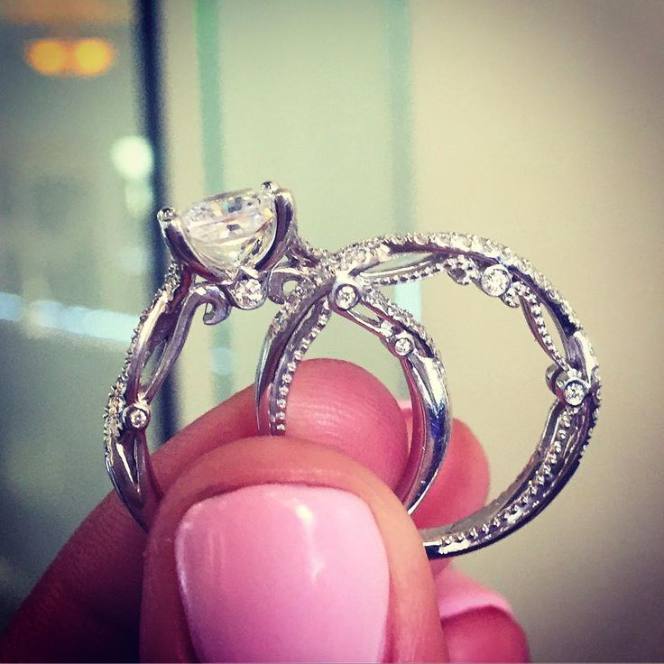 verragio engagement rings- the small one (wedding band) ❤️❤️