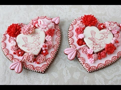 New Video Release: How to Make Embossed Heart Cookies (A Valentine's Day Project!) by Julia M Usher of Recipes for a Sweet Life