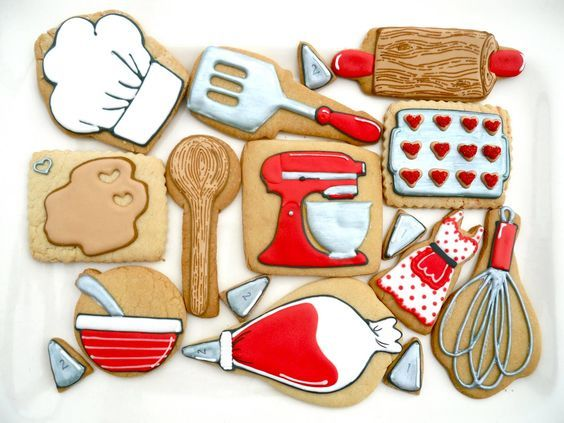 Resultado de imagem para biscoito decorado azul tiffany com vermelho