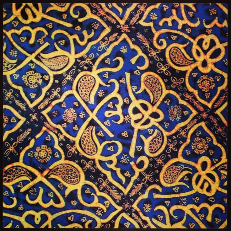 Batik, Ceplok pattern from Palembang, South Sumatra - Indonesia