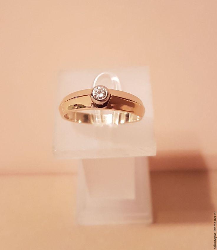 Купить или заказать Кольцо с бриллиантом в интернет-магазине на Ярмарке Мастеров. Кольцо из желтого золота 585 пробы с бриллиантом (Кр.57- 0,11сt 4/5). Вес кольца - 3.67гр. Размер кольца - 19.0. Золотое кольцо с бриллиантом никогда не выйдет из моды и всегда будет престижным и желанным украшением для каждой женщины.
