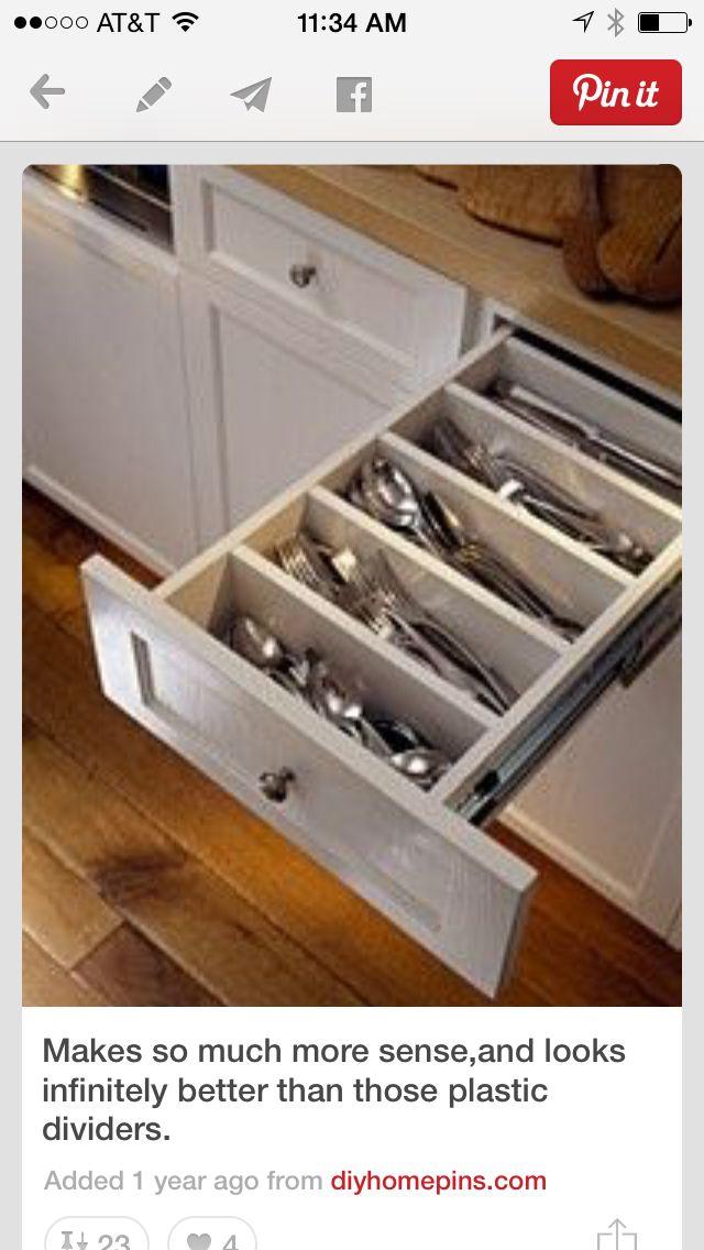 Great idea for utensil drawer