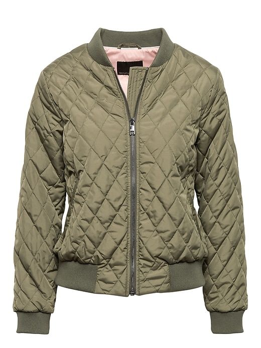 8137c8b05 Banana Republic Womens Quilted Bomber Jacket With Pop-Color Lining ...