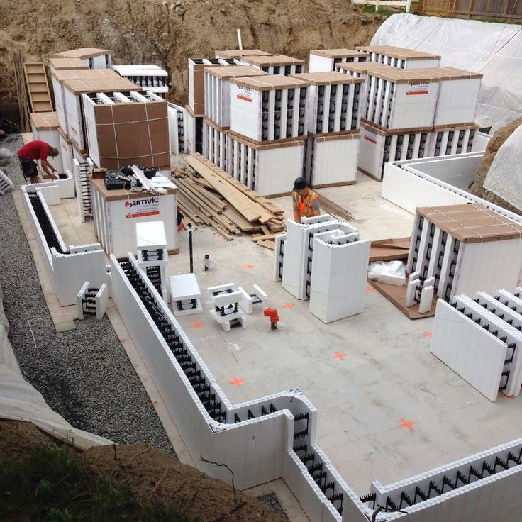 icf home designs%0A Modern House Toronto ICF  insulated concrete forms  delivered and being  installed over the next