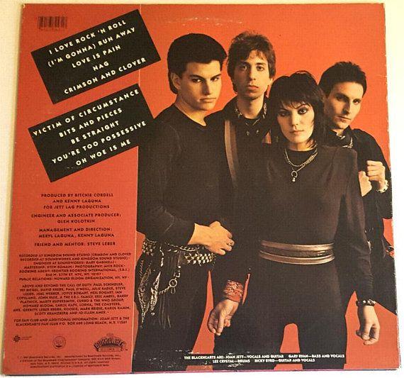 Joan Jett The Blackhearts I Love Rock N Roll 1981 Vinyl Joan Jett Blackhearts Music Lovers