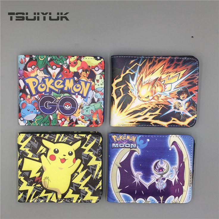 Pocket Monster Pokemon Wallet For Teenager Zipper Kawaii Pikachu Poke Ball Wallet Leather Student Money Bag Card Holder Purse