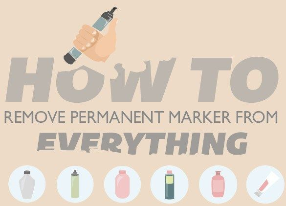 How to Remove Permanent Marker from Everything - Homey Improvements