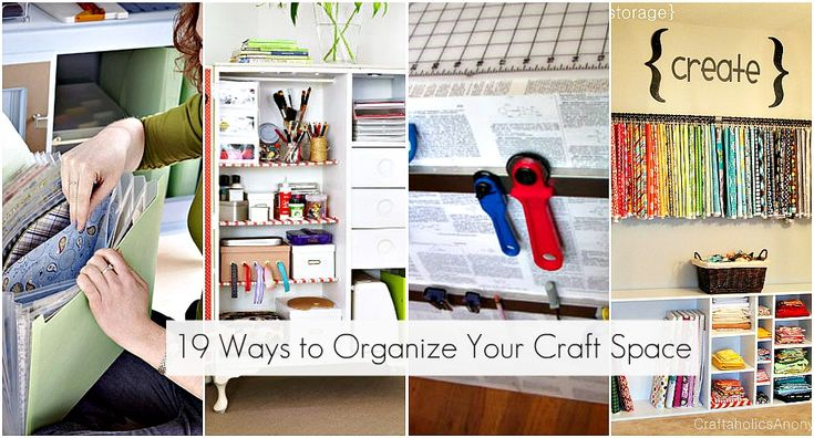 196 best cool craft storage rooms images on pinterest for Cool ways to organize your room
