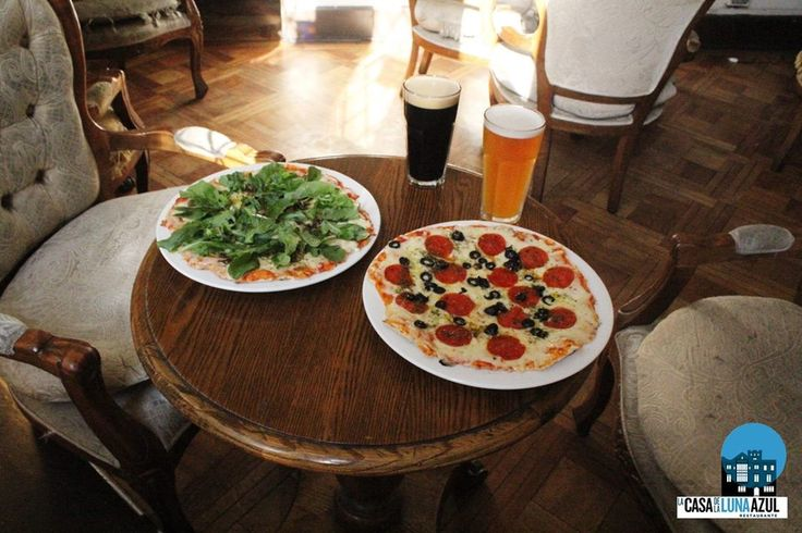 Stoned cooked pizza and artisanal beer