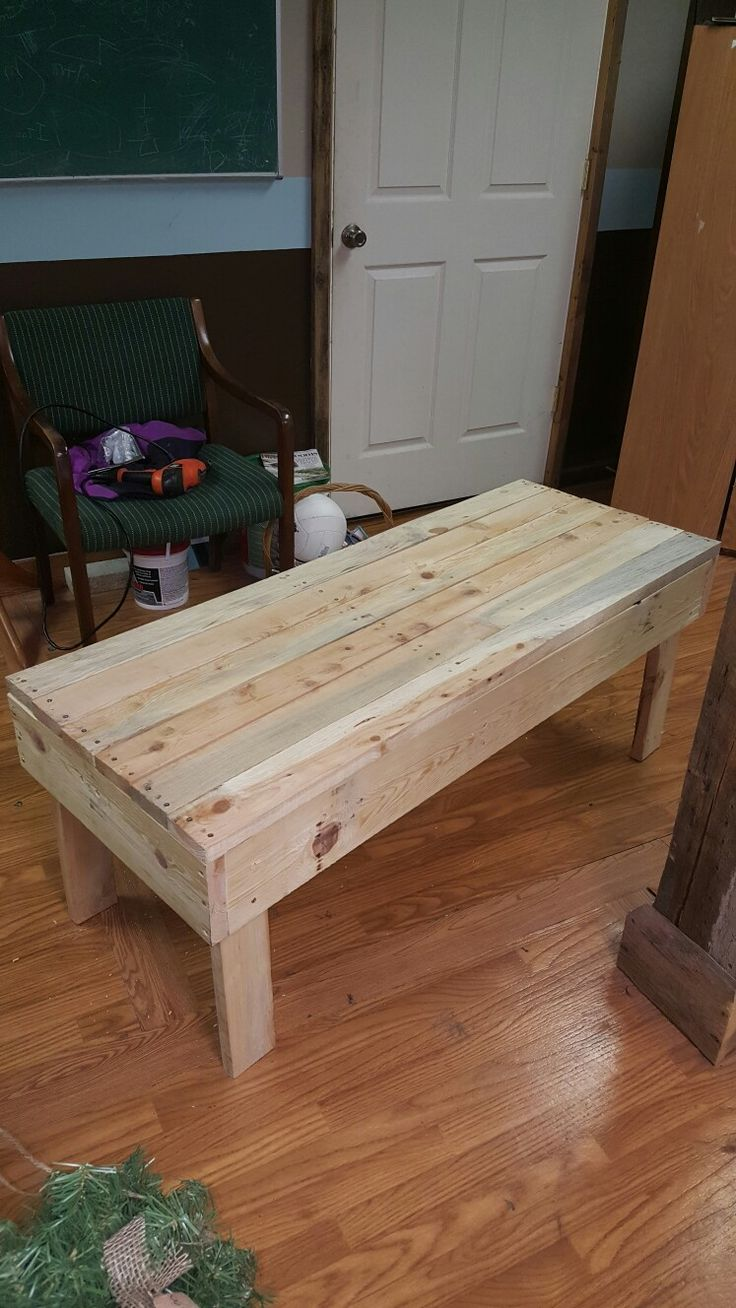 Coffee table I built out of pallets