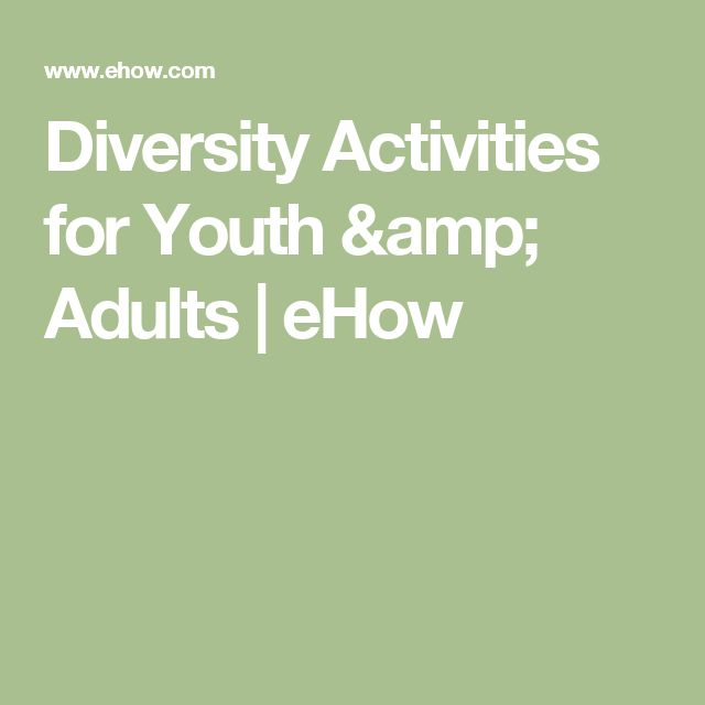 Diversity Activities for Youth & Adults | eHow