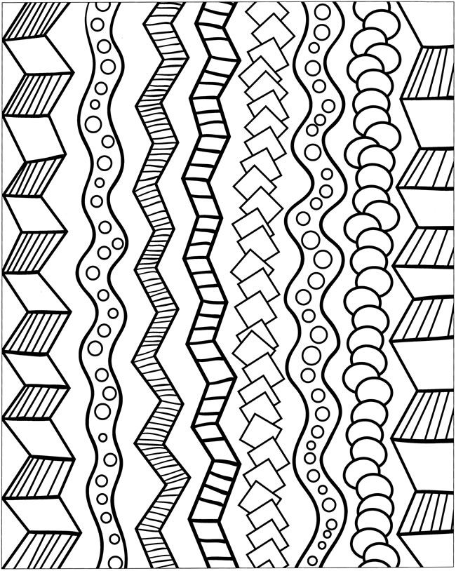 Free coloring pages of cool borders
